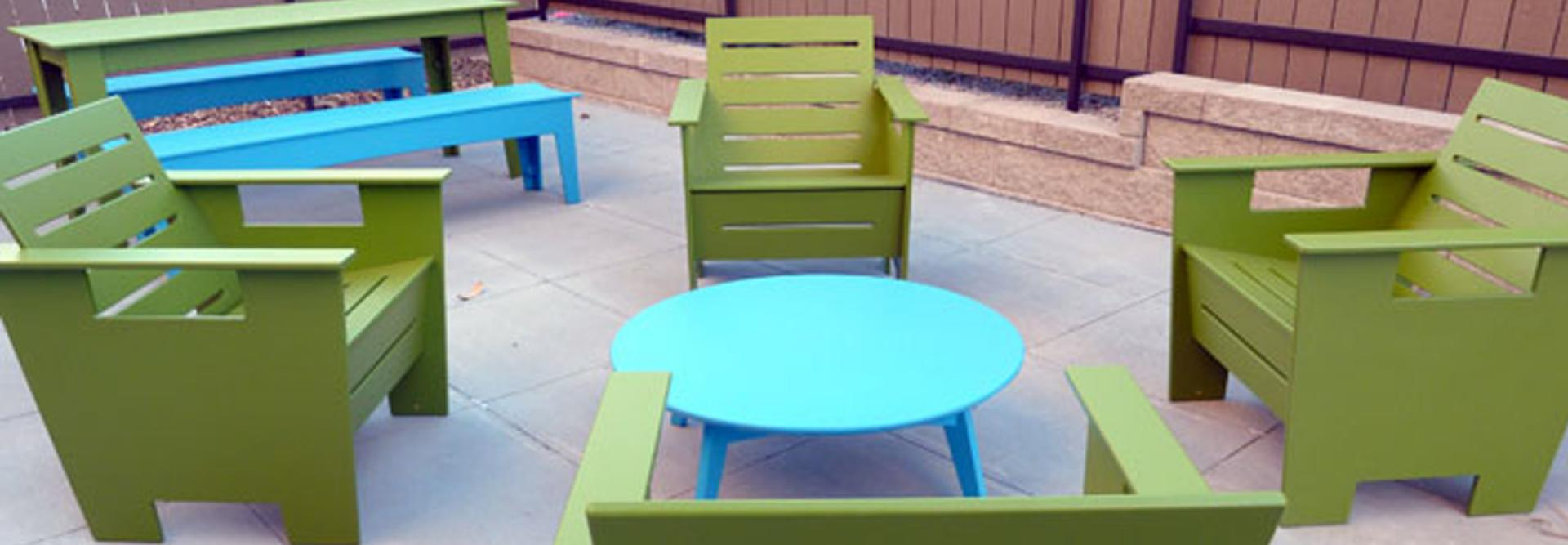 Patio and Seating at the Cruise Denver Apartment Building