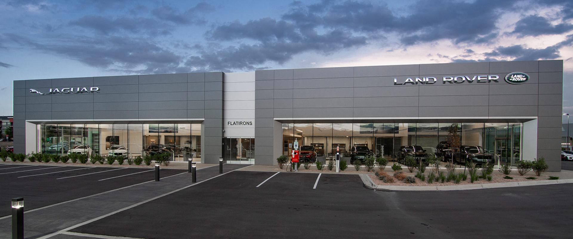 Exterior of the Land Rover Flatirons Boulder and Broomfield Dealership