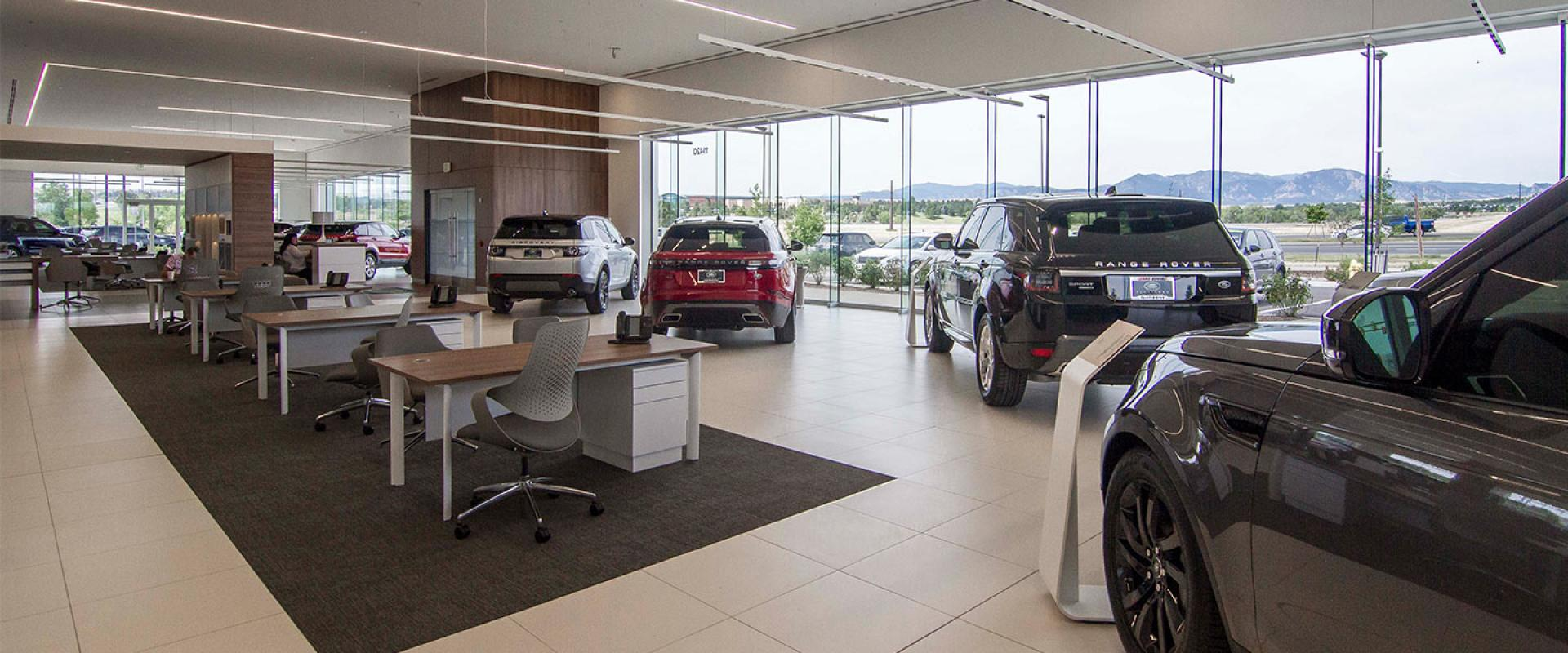 Showroom Floor at the Jaguar and Land Rover Flatirons Boulder and Broomfield Dealership