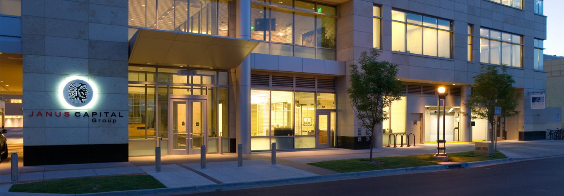 Janus Capital Group World Headquarters - Night Entrance