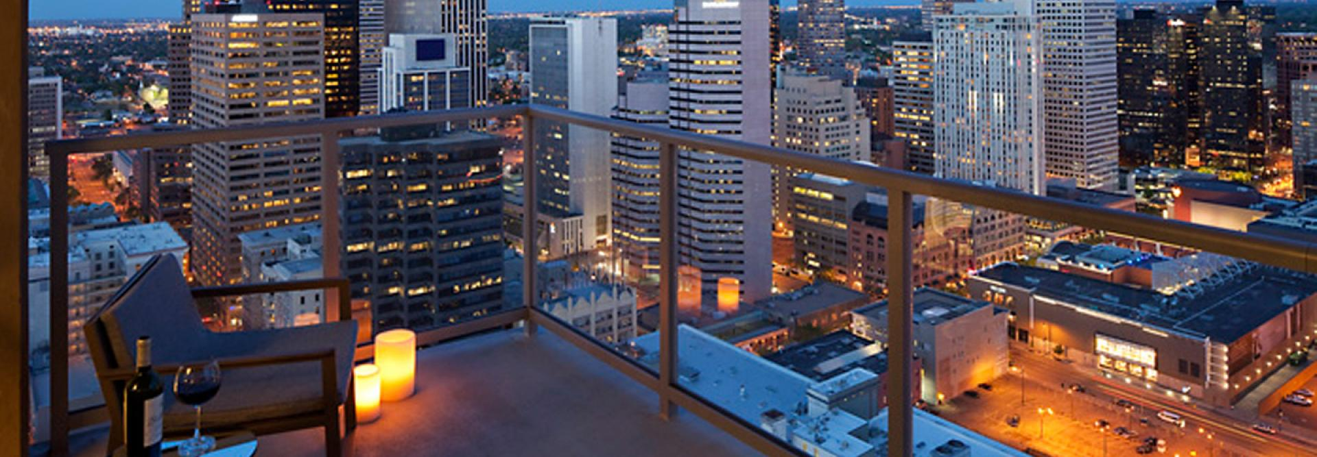 Spire Denver - Patio Overlooking Downtown