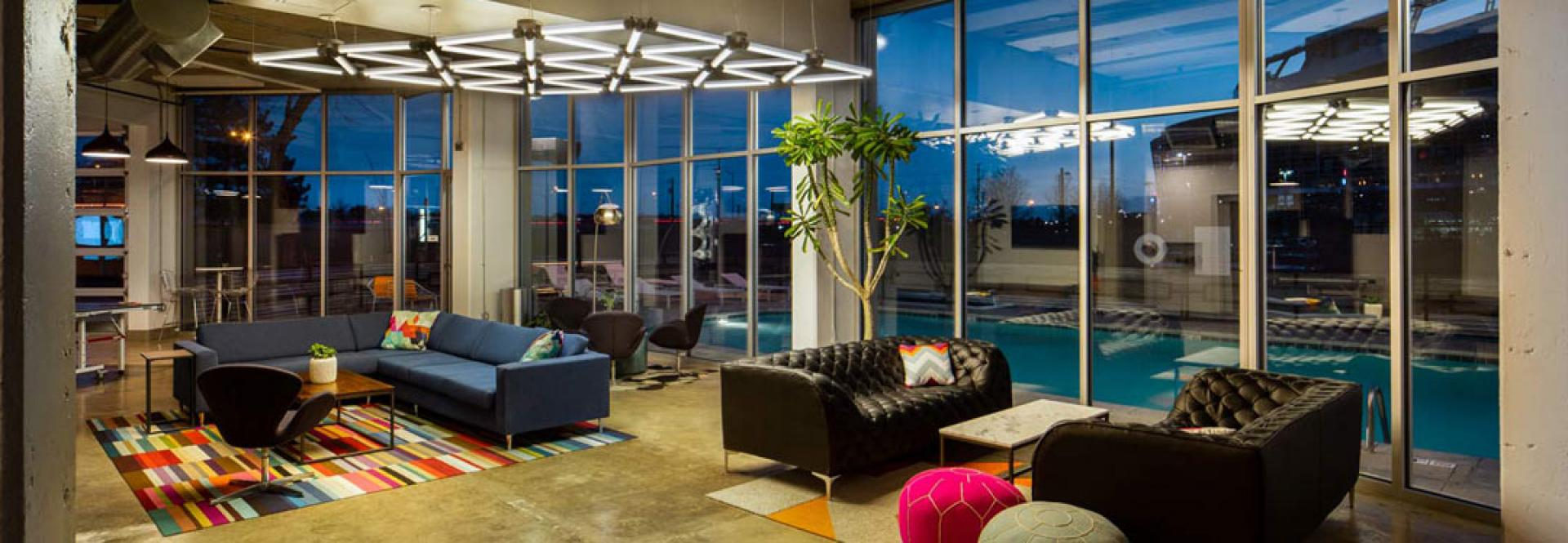 Lounge and Pool at Turntable Studios